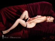 nude woman in sexy stockings