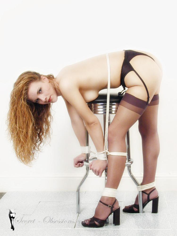 Submission bondage spanking